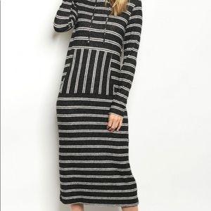 White & Black Stripe Dress